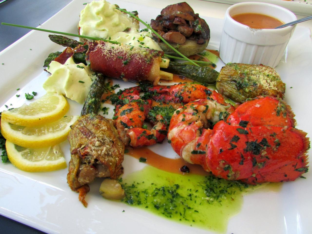 Homard grillé et sa surprise de légumes