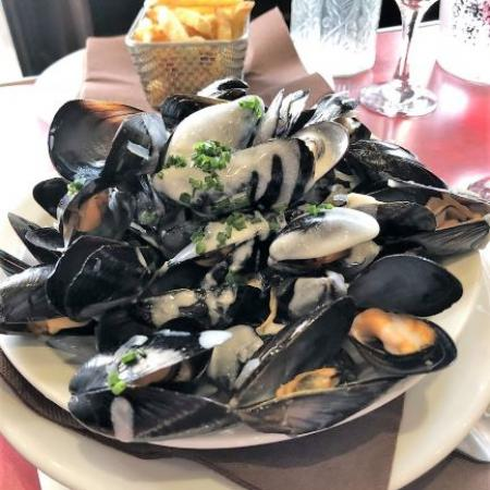 Mussels and homemade French Fries